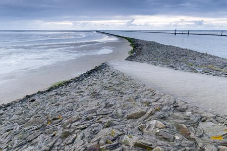 sundown in East Frisia beach
