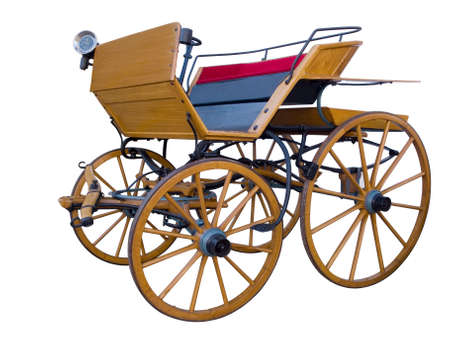 Open horse-drawn carriage middle position Stock Photo
