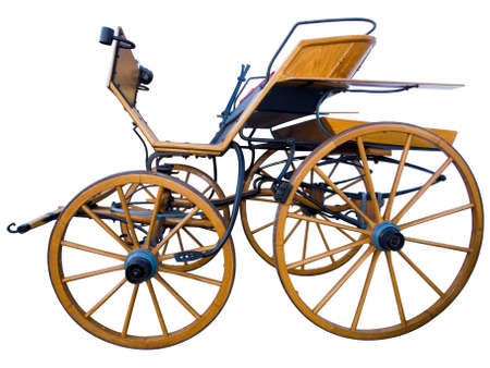 Open horse-drawn carriage side