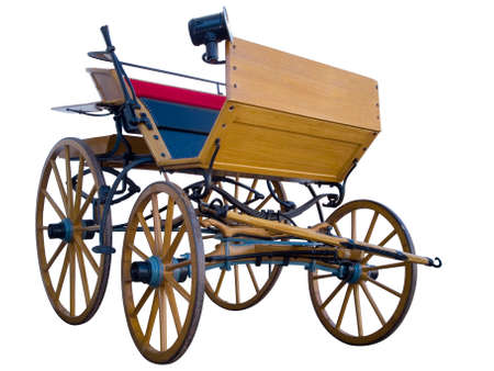 Open horse-drawn carriage low position Stock Photo