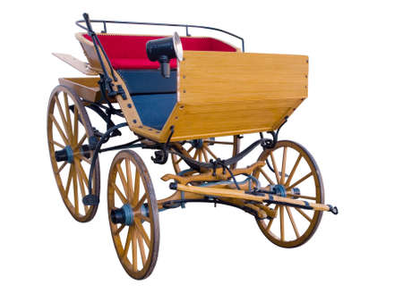 Open horse-drawn carriage front Stock Photo