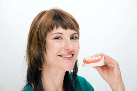 exempted female: genuine teeth are the best