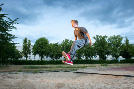 subjective: long jumpin in the sand