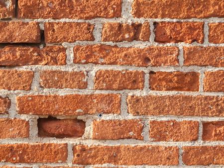 Porous bricks wall Stockfoto