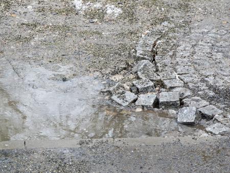 broken paving stones Stockfoto