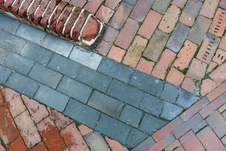 different paving stones in top view