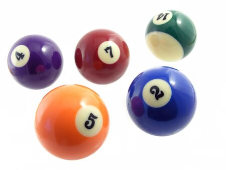pool game: billiard balls