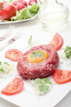 steak tartare: Steak Tartare  Selective focus