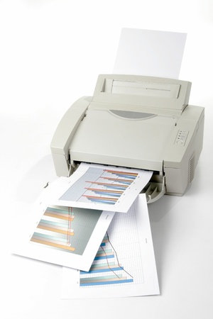 Printed sales reports Stock Photo - 19398915
