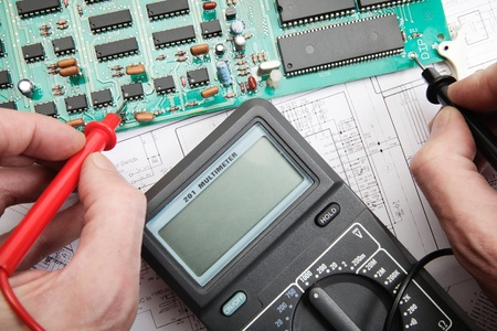 Electronic technician Stock Photo