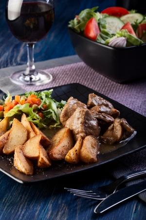 Goulash with prepared potatoes