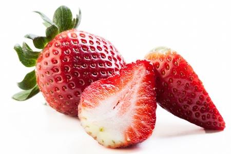 Strawberries on white background Stock Photo - 20325917