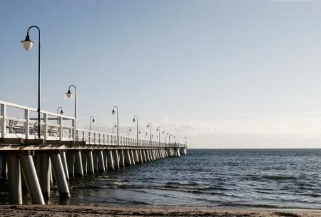 Baltic pier in Gdynia Orlowo