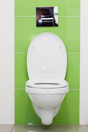 White toilet bowl in a bathroom Stock Photo - 24867838