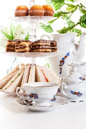 high tea: High tea set with dessert, afternoon tea set