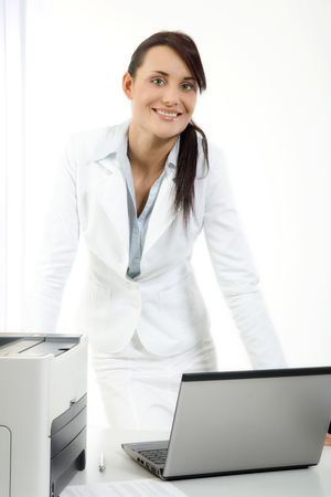 working woman: Woman working with laptop