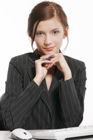 clr: Portrait of young businesswoman Stock Photo
