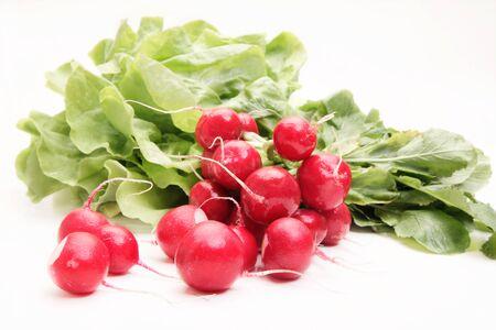 crudite: Fresh radish on white background Stock Photo