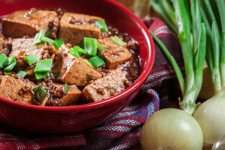 Mapo Tofu - traditional sichuan spicy dish. Chinese cuisine