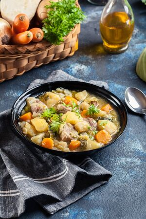 Pichelsteiner, German stew that contains meat and vegetables Stock fotó