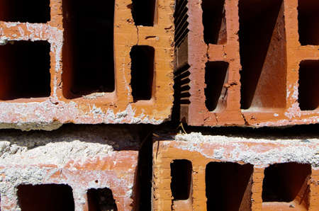hollow wall: Red hollow ceramic bricks