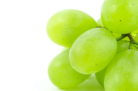 Grapes photographed on a white background
