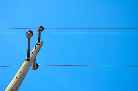 Cables and blue sky Stock Photo