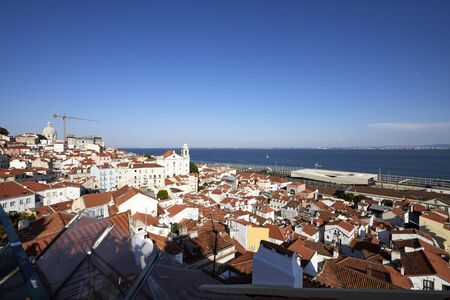 Viewpoint of Alfama Lisbon to st. George's Castle