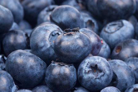 antioxidants: Group of blueberries on white background. Studio shoot. Stock Photo