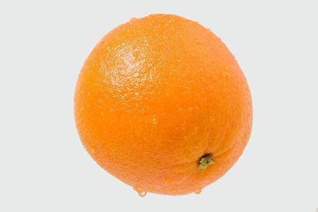 dring: Ripe juicy orange with drops. Studio shoot.