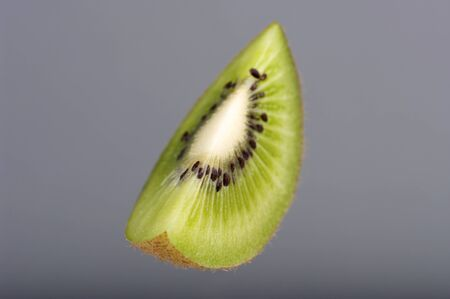 cross section: Ripe Juicy Kiwi Fruit, Part, Cross Section. Studio shoot retouched.