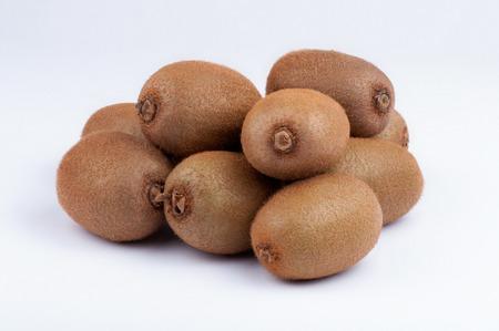 kiwi: Ripe Juicy Kiwi Fruit, Group of Objects. Studio shoot retouched. Stock Photo