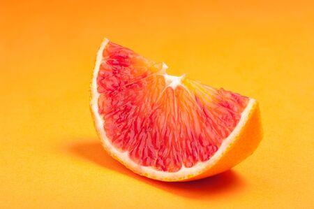 Part of blood red sicily orange. Studio shoot. Stock Photo