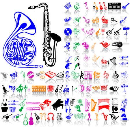 kunststoff rohr: Satz von Musik-Skizzen. Teil 7. Isolierten Gruppen und Ebenen. Globale Farben.