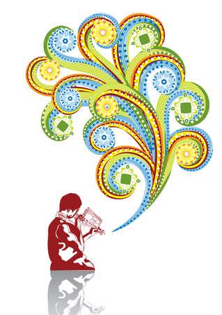 east indian: Asia m�sico en collage abstracto. Formato A4. Ilustraci�n vectorial. Grupos aislados y capas. Mundial colores.