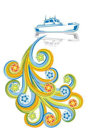 Speedship in abstract collage. Stock Vector - 5306497