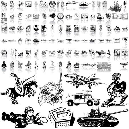 Army set. Part 2. Isolated groups and layers. Stock Vector - 5405972