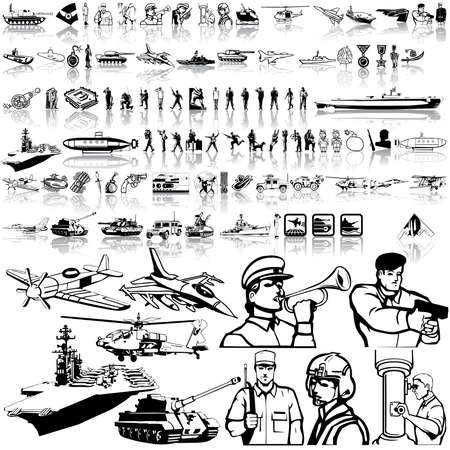 Army set. Part 5. Isolated groups and layers. Stock Vector - 5405962