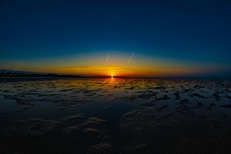 Sunset in the Wadden sea