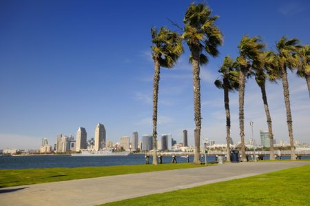 san   diego: San Diego Downtown in spring time