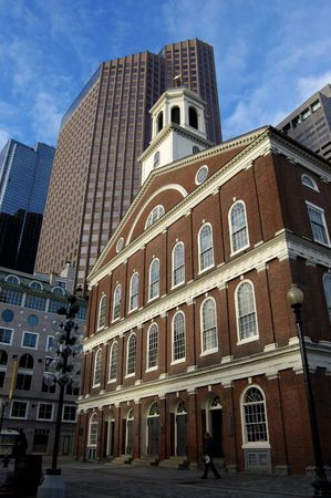 Faneuil Hall of Boston 스톡 콘텐츠