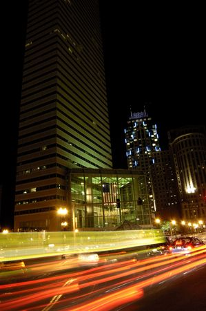 Boston financial district at night Stok Fotoğraf