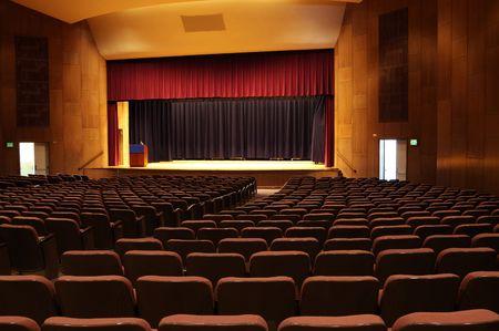 archiitecture: interior detail of a univeristy auditorium