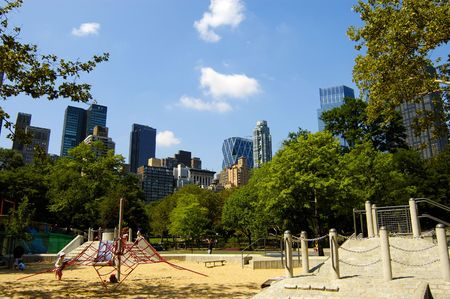 kids playground at Central Park, New York City