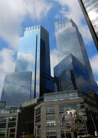 buildings at Columbus circle, New York City Stock Photo