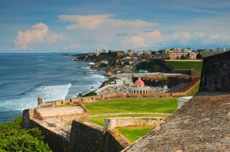 juan: Old San Juan at Puerto Rico Stock Photo