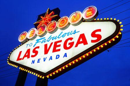 welcome sign: Las Vegas Ville Bienvenue � signer dask Banque d'images