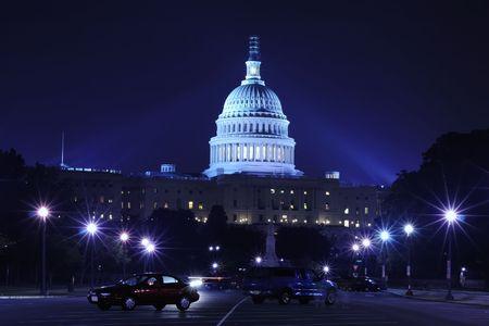 capitol hill: Capitol Building at night