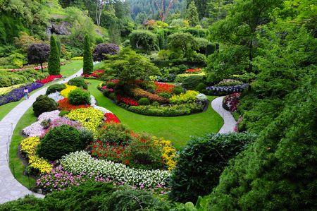 beroemde verlaagd tuin