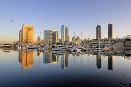 southern california: San Diego downtown skyline and convention center Stock Photo